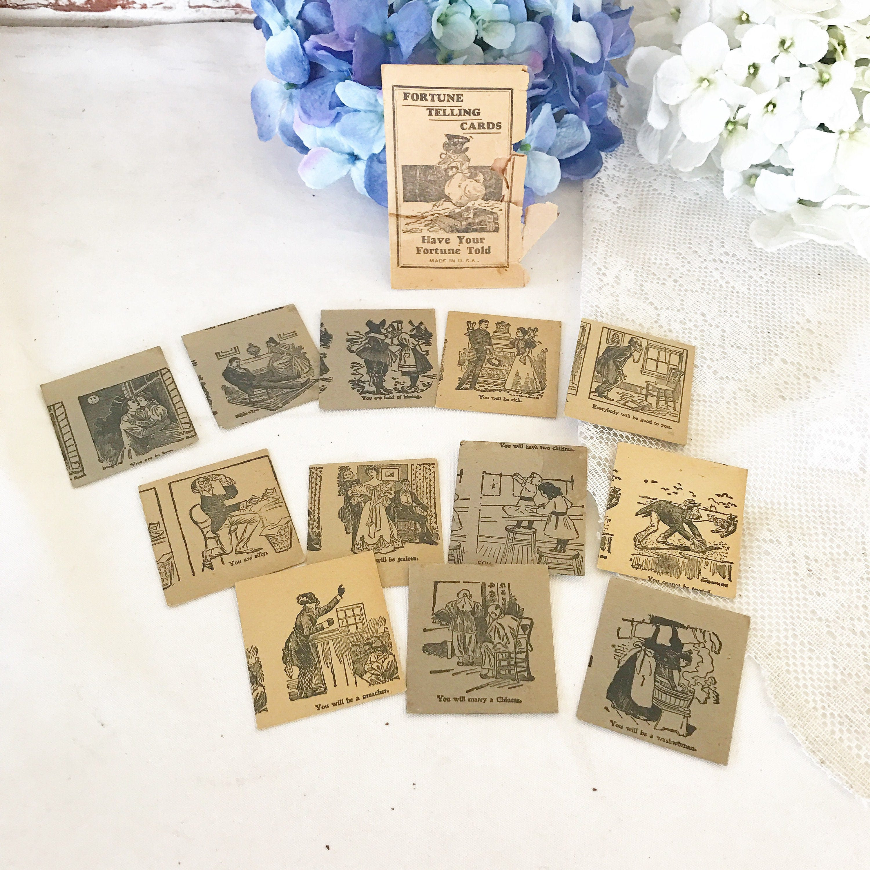Antique Fortune Telling Tarot Cards Deck Vintage Have Your