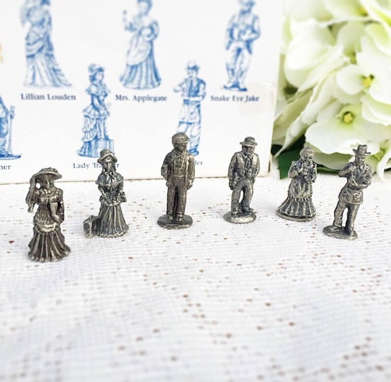 The Americana Pewter Collection Figurines, decor, collectable, Victorian,  Edwardian, Wild West, AH31