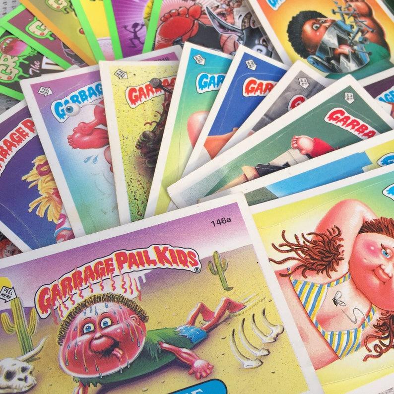 03d4d90d95f Vintage Garbage Pail Kids Stickers Lot Retro 1980 s Gross