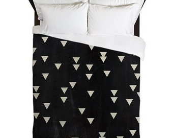 Duvet Cover, Black, Rustic Bedroom Decor, Arrow Bedding, Boho Duvet, Arrow Decor, Guest Bedroom, Apartment Decor, Dorm Duvet, Gifts for Her