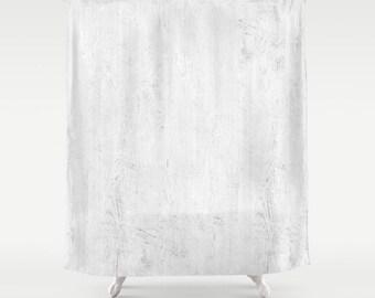 Shabby Chic Shower Curtain White Boho Cottage Romantic Decor Vintage
