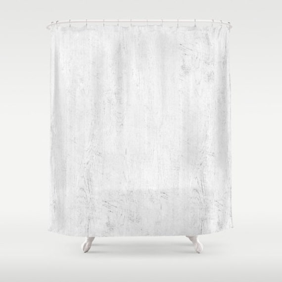 Shabby Chic Shower Curtain White Boho