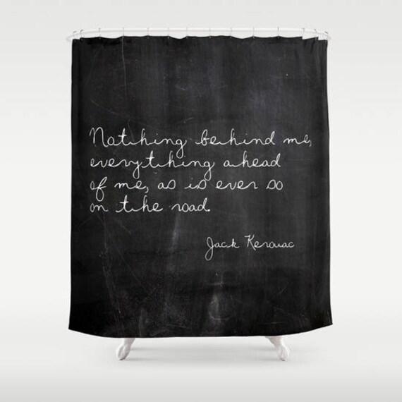 zitat von jack kerouac zitat duschvorhang boho duschvorhang etsy. Black Bedroom Furniture Sets. Home Design Ideas