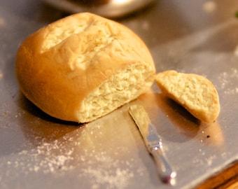 Dollhouse Miniature Food - Miniature polymer clay sourdough bread