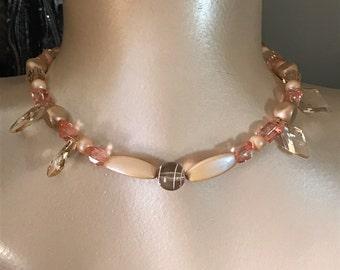 Peach Surprise Necklace Set