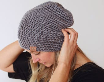0e74e37ebc7 Steel Grey - ACRYLIC Soft Light Weight Slouchy Beanie