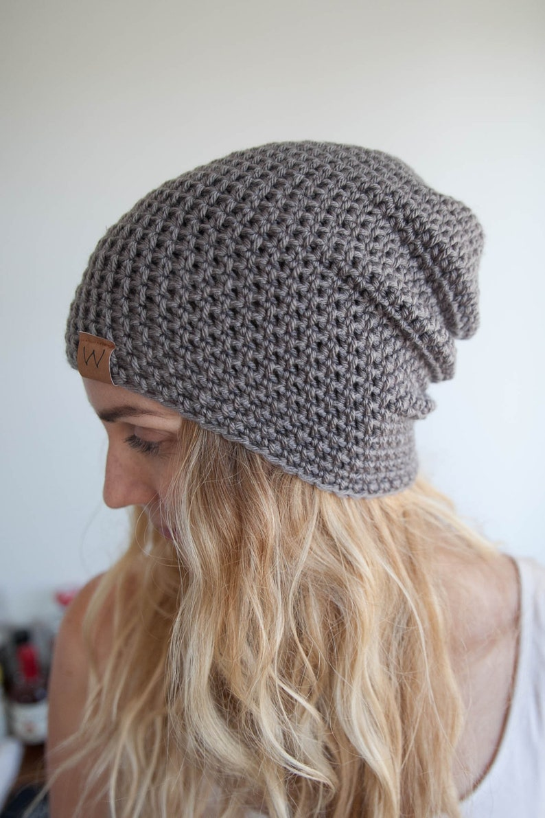 Steel Grey  ACRYLIC Soft Light Weight Slouchy Beanie image 0