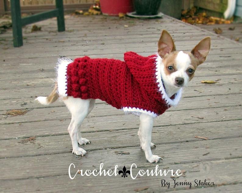 Hooded Dog Sweater Pattern Crochet Dog Hoodie Dog Coat 2 Etsy