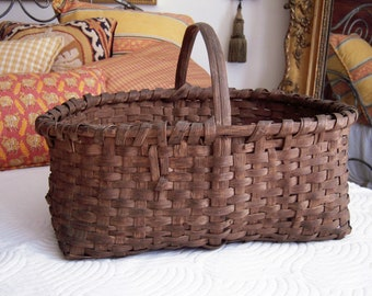 Antique American Splint Basket Large