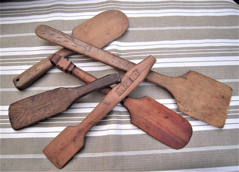 Antique Butter Print Paddle Folk Art American Wood