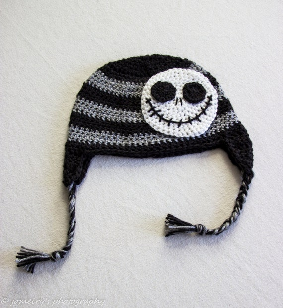 Jack Skellington Crochet Hat The Nightmare Before Christmas  aa78079df058
