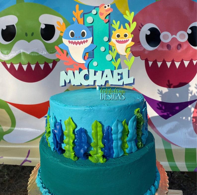 Incredible Baby Shark Doo Doo Cake Topper Smash Cake Ocean Themed Etsy Personalised Birthday Cards Veneteletsinfo