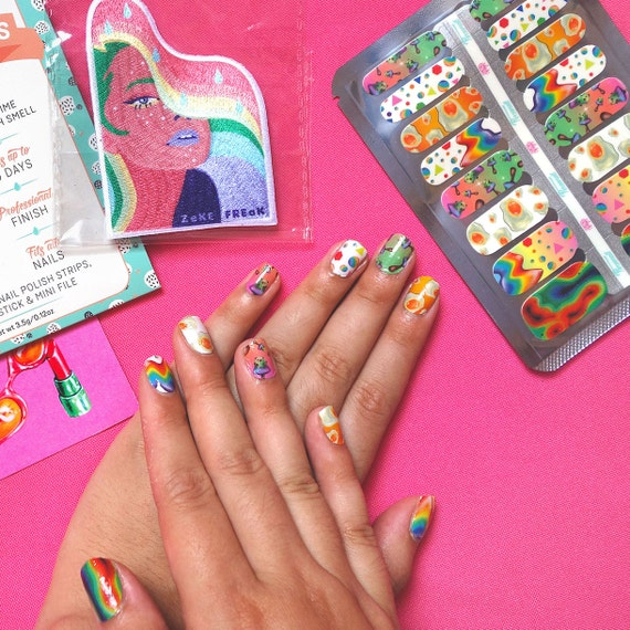 Psychedelic Nail Art Decal Strips Limited Edition
