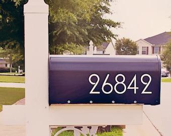 Fancy Mailbox Number Decal, Custom Mailbox Sticker - 003