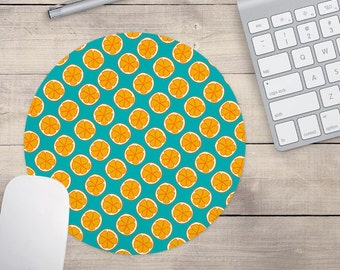 Oranges Mouse pad, Custom Mouse pad, Patterned Mouse pad, Oranges Coaster, Fruit Mouse Pad, Fruit Coaster (0027)