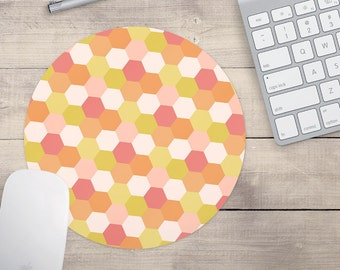 Honeycomb Mouse pad, Retro Mouse pad, Patterned Mouse pad, Custom Mouse Pad (0019)