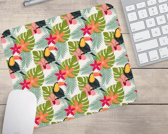 Toucan Mouse Pad, Tropical Mouse Pad, Pattern Mouse Pad, Hawaii Mouse Pad (0039)
