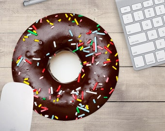Chocolate Donut Mouse Pad, Doughnut Mouse Pad, Baker's Mouse Pad (0056)