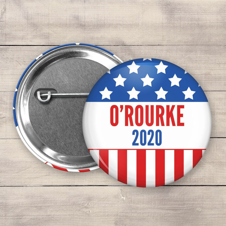 2.25 Beto ORourke Pin Back Button 2020 Election image 0