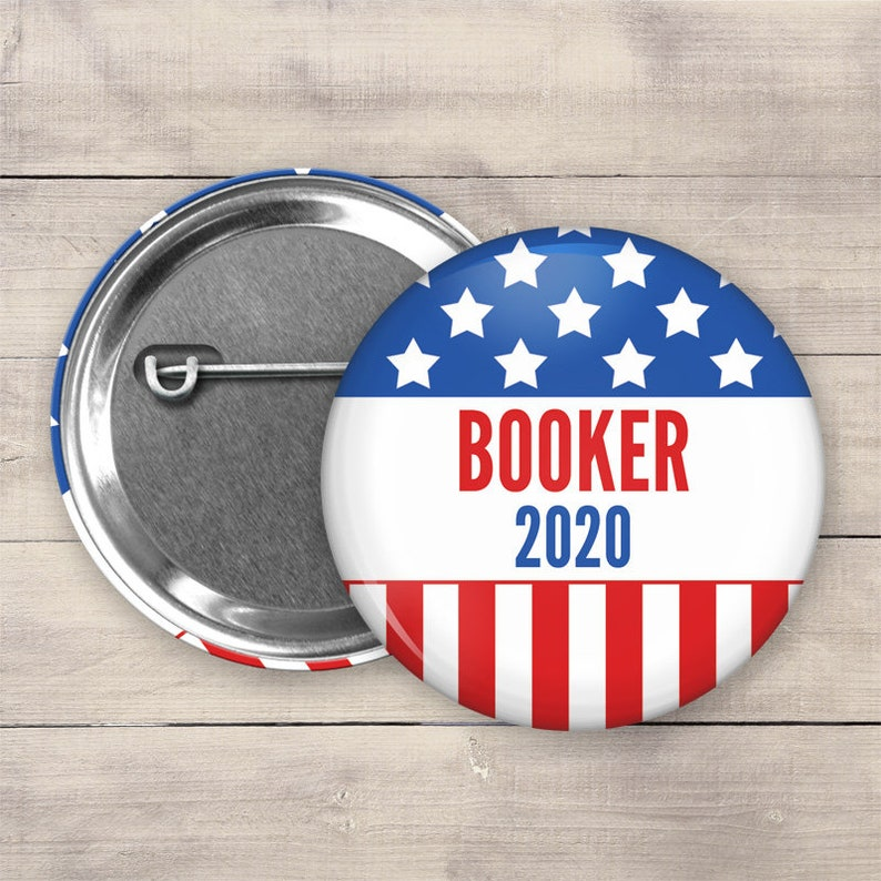 2.25 Cory Booker Pin Back Button 2020 Election Button image 0
