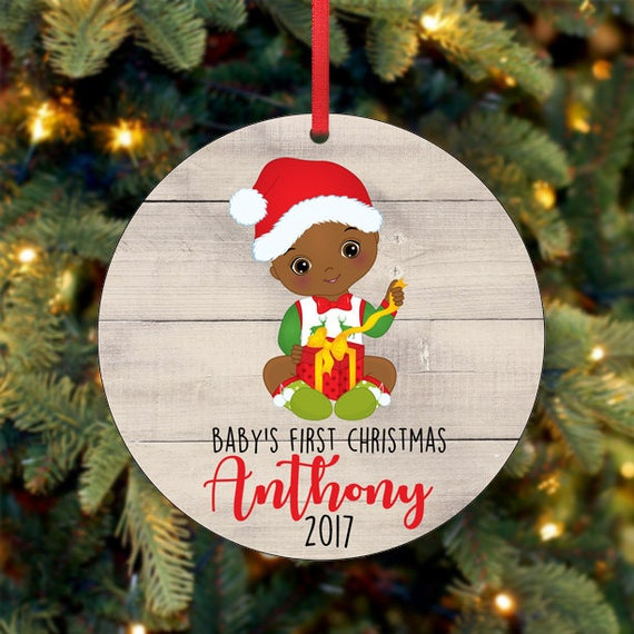 baby s first christmas ornament personalized christmas etsy