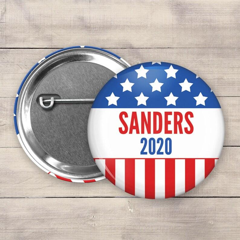 2.25 Bernie Sanders Pin Back Button 2020 Election image 0