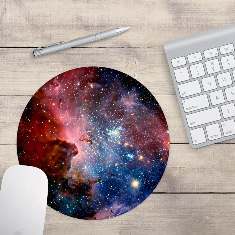 Red and Blue Galaxy Mouse Pad Outer Space Mouse Pad Galaxy image 0