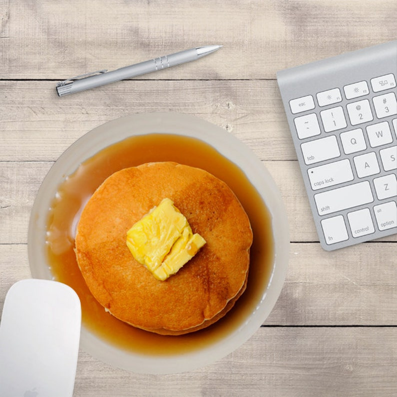 Pancake Mouse Pad Pancakes Mouse Pad Breakfast Mouse Pad image 0