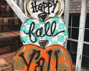 Personalized Pumpkin Door Hanger   Pumpkin Door Hanger   Fall Door Decor   Fall  Decorations   Pumpkin Wreath   Halloween Decorations