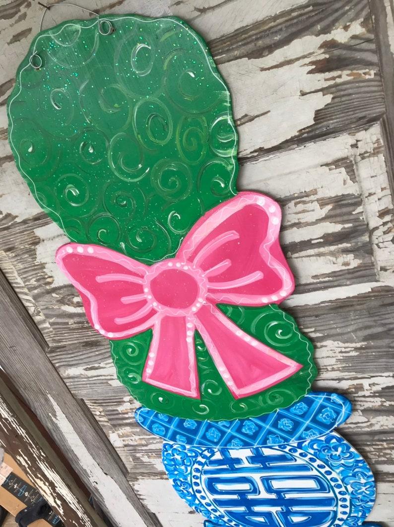 Personalized Door Hanger Summer Decorations Chinoiserie Decor Chinoiserie Door Hanger Spring Decor Chinoiserie Door Decor