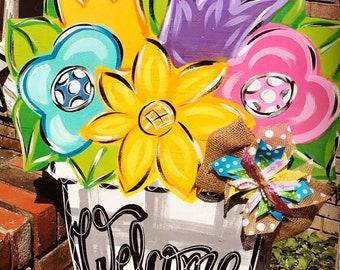Spring Door Hanger - Summer Door Hanger - Spring Decor - Spring Door Decor - Summer Door Decor - Summer Decor - Mother's Day Gift