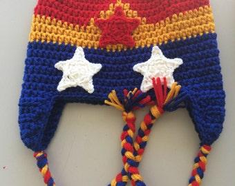Crochet Wonder Woman Hat