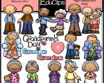 Grandparents Clip Art Bundle
