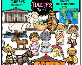 Ancient History - Greeks Clip Art Bundle
