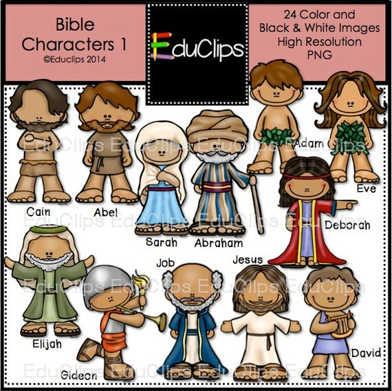 bible characters pictures bible characters  clip art bundle