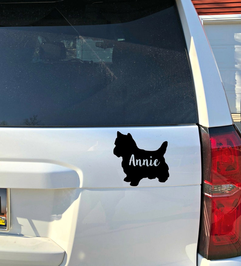 Yorkie Car Decal Laptop Decal Dog Decal for Cars Yorkshire Terrier Personalized Decal dog sticker Personalized Yorkie
