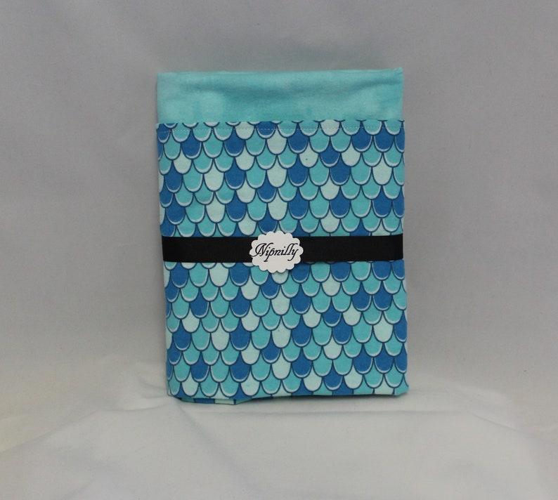 baby blanket baby girl baby shower gift ready to ship Mermaid scales flannel baby blanket blue reversible blanket receiving blanket