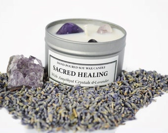 Sacred Healing Soy Wax Candle
