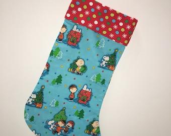 peanuts friends christmas story stocking - Snoopy Christmas Stocking
