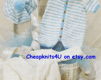 bfe72cb5ee50 Baby Jumper and Trousers in DK 8 ply yarn for sizes 16 to 22