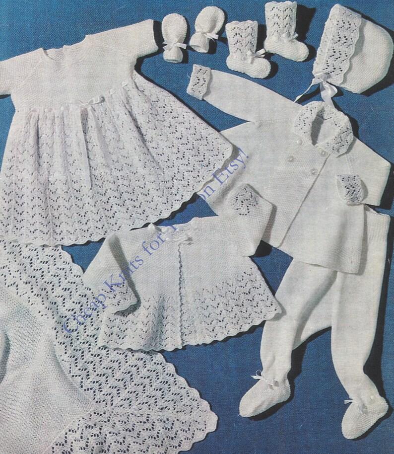 6d0fc13a7 Baby Layette Dress Matinee Jacket Coat Leggings Bonnet