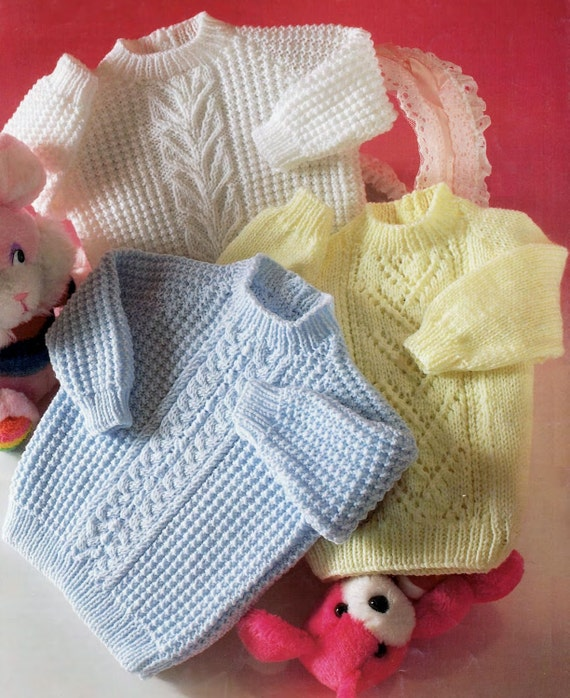 44da108f1d9b Baby Jumper   Sweater in DK 8 ply yarn for sizes 16 to 22