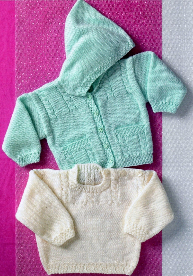 75018e8d1069 Baby   Toddler Hooded Cabled Jacket and Sweater in DK 8