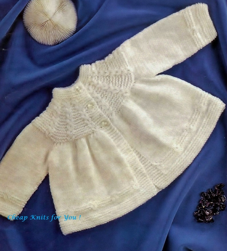 Baby Matinee Jacket Instructions For 3ply Dk And Qk For Ages Etsy