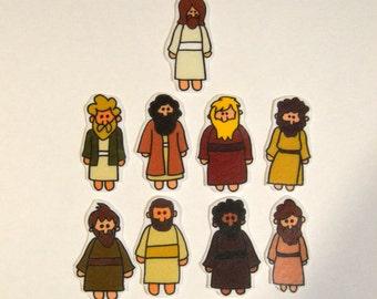 Jesus and the Disciples, Felt Board, Flannel Board, Felt Set, Homeschool, Bible Story, Sunday School, Felt Story, Christian Felt