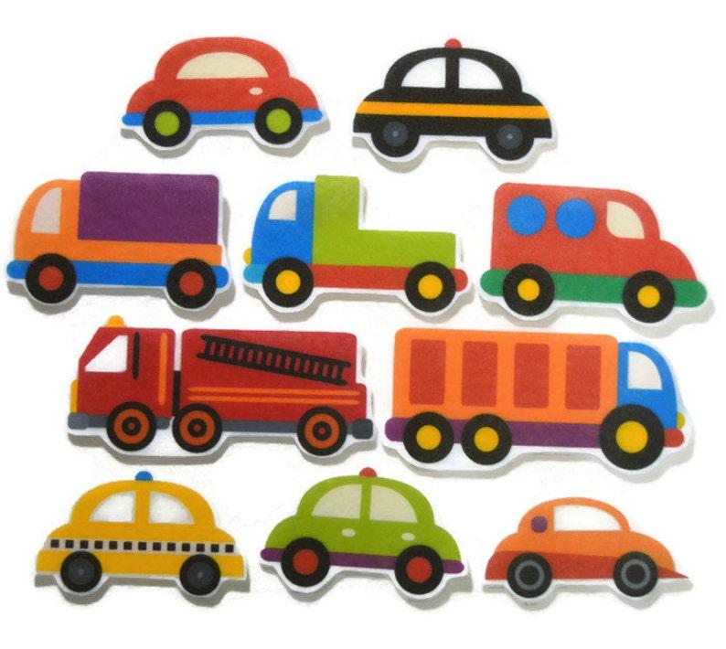 Felt board Cars and Trucks homeschool felt board pieces image 0