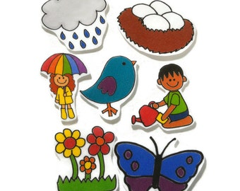 Spring, Felt Board, Flannel Board, Felt Set, Homeschool, Busy Book, Felt Story, Story Time, Quiet Book, Imaginative Play, Teacher Resource