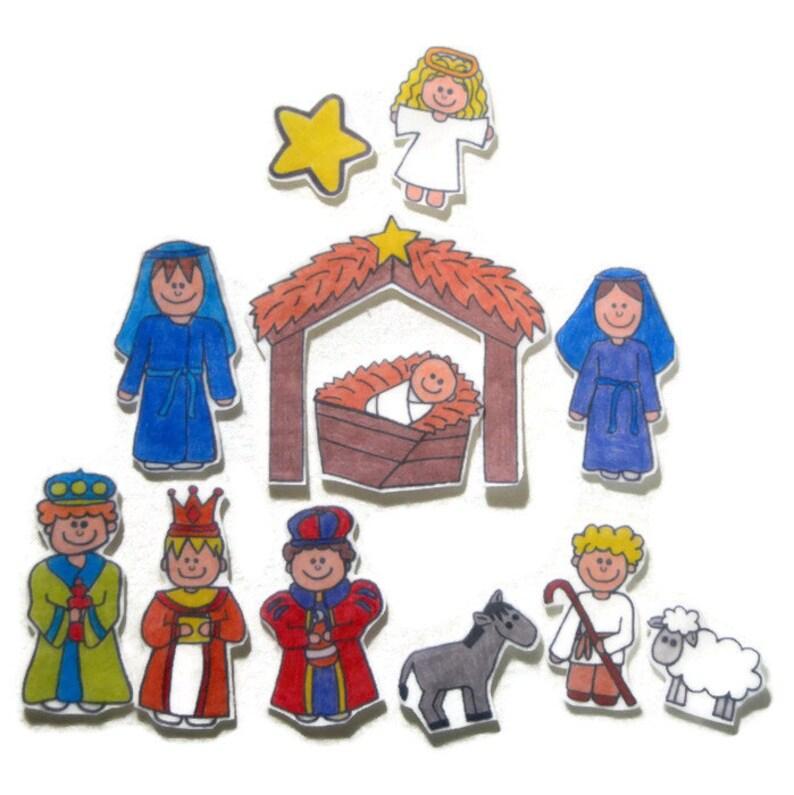 Nativity Felt Board Flannel Board Felt Set Homeschool image 1
