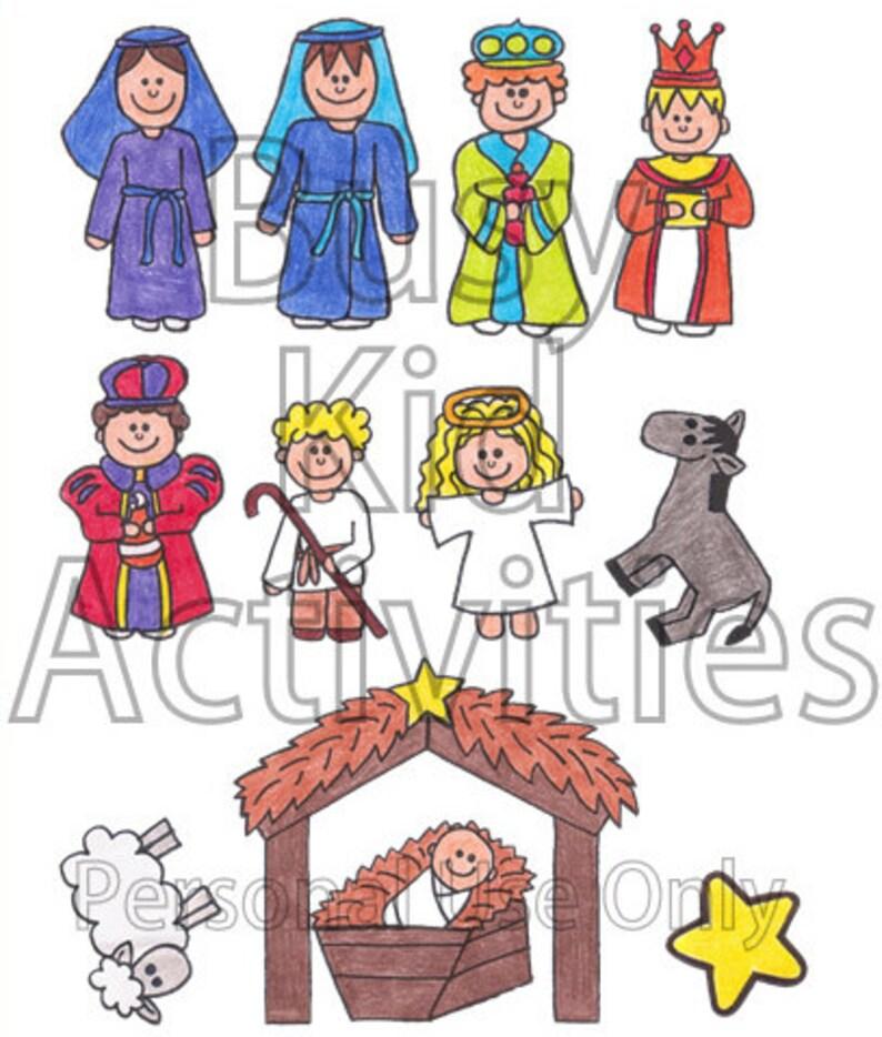 Make Your Own Nativity Felt Pieces Nativity Printable DIY image 0