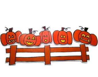 Pumpkins Sitting On The Gate, Fingerplay, Nursery Rhyme, Busy Book, Felt Board, Flannel Board, Quiet Book, Felt set, Homeschool, Felt Story